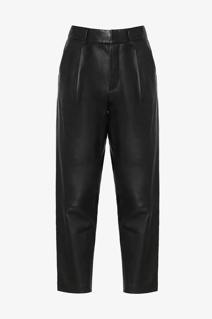 ANINE BING Becky Leather Trouser - Black