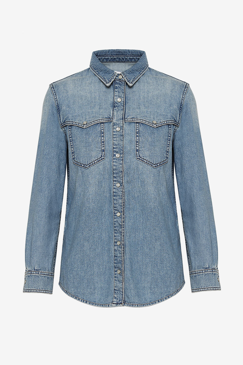 ANINE BING Luke Shirt - Breezy Blue