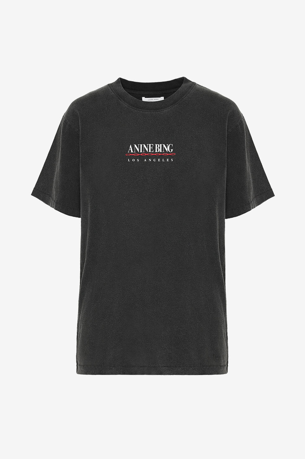 ANINE BING Lili Tee Link - Washed Black