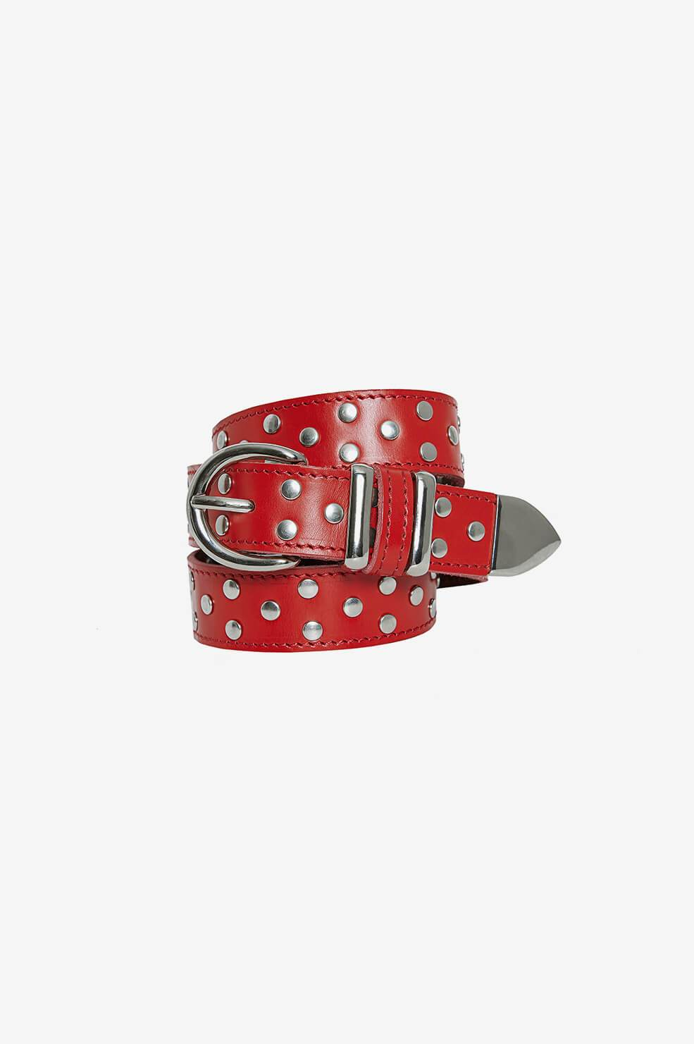 ANINE BING Rowen Belt - Red