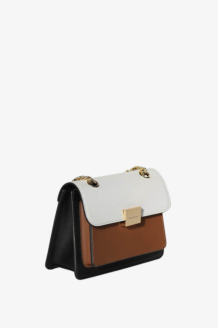 ANINE BING Mini Felix Bag - Camel Color Block