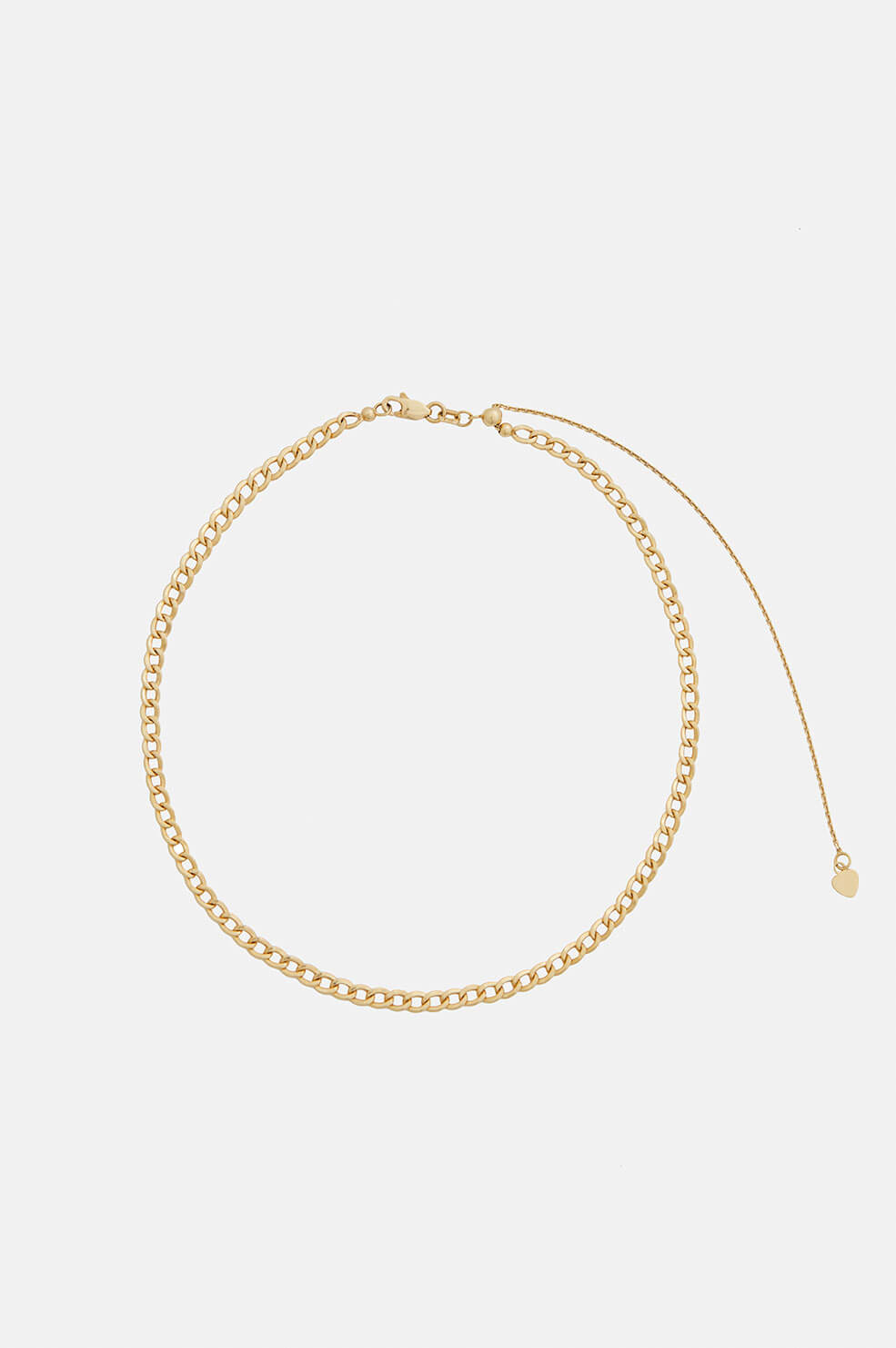 Mini Curb Necklace - Gold