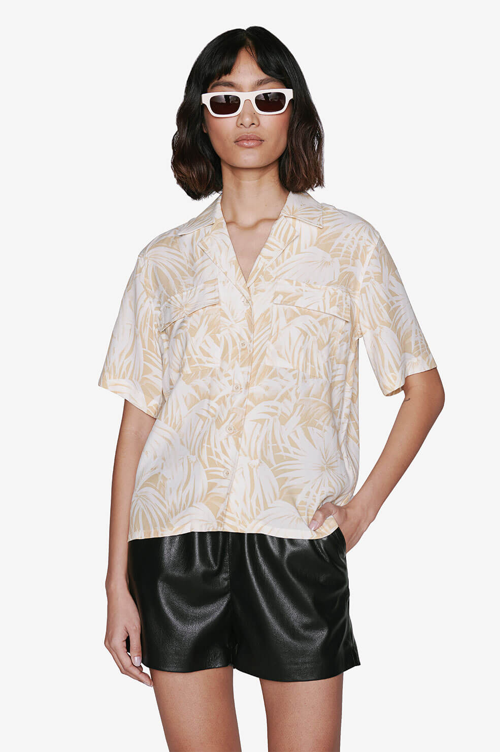 Austin Top - Hawaiian Print