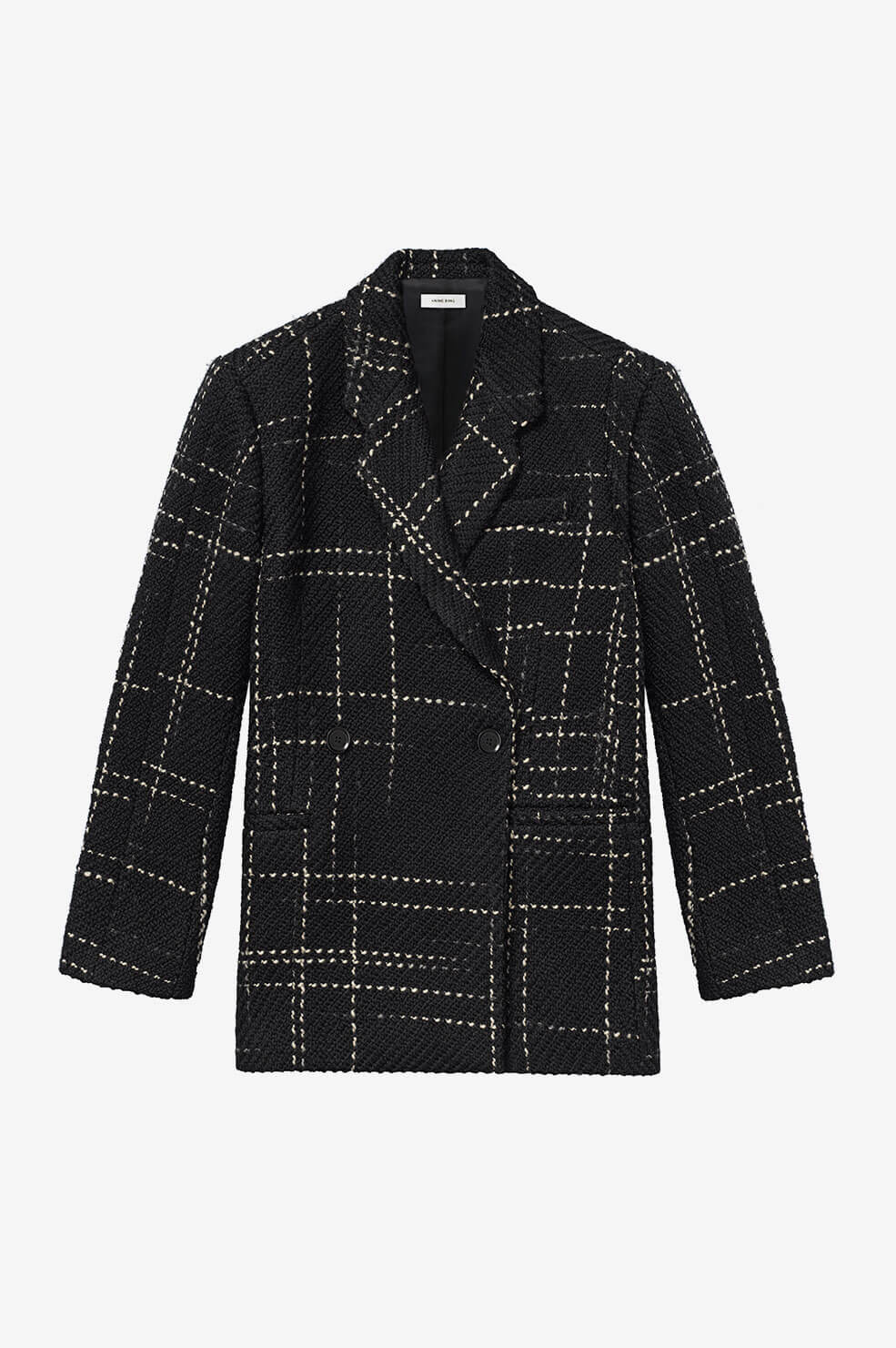 ANINE BING Kaia Blazer - Black Plaid