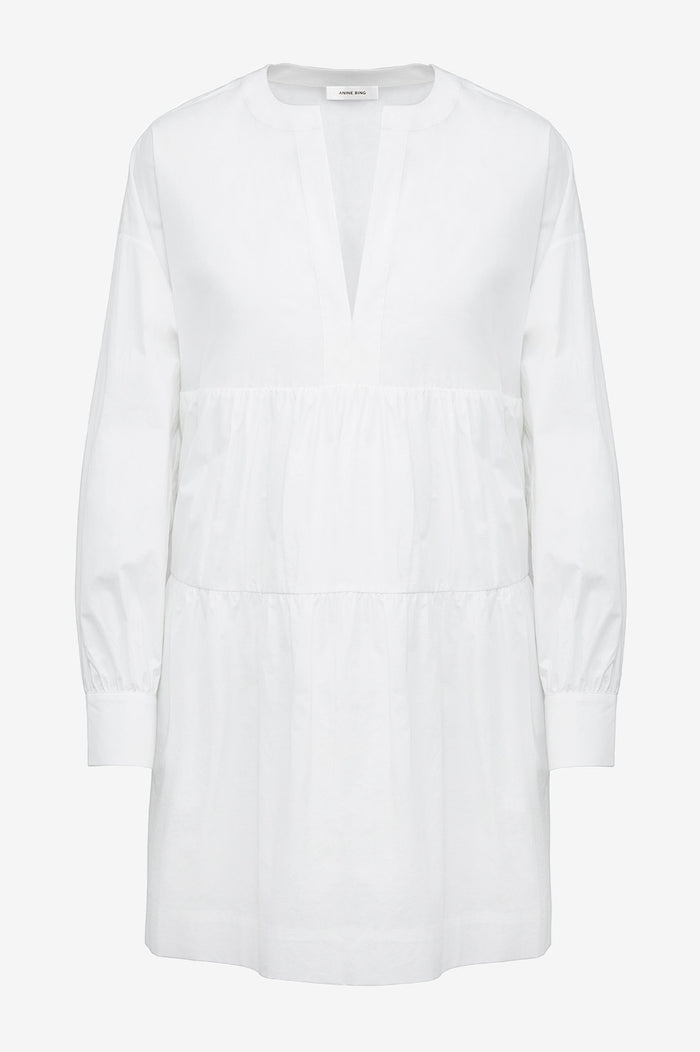 ANINE BING Addison Dress - White