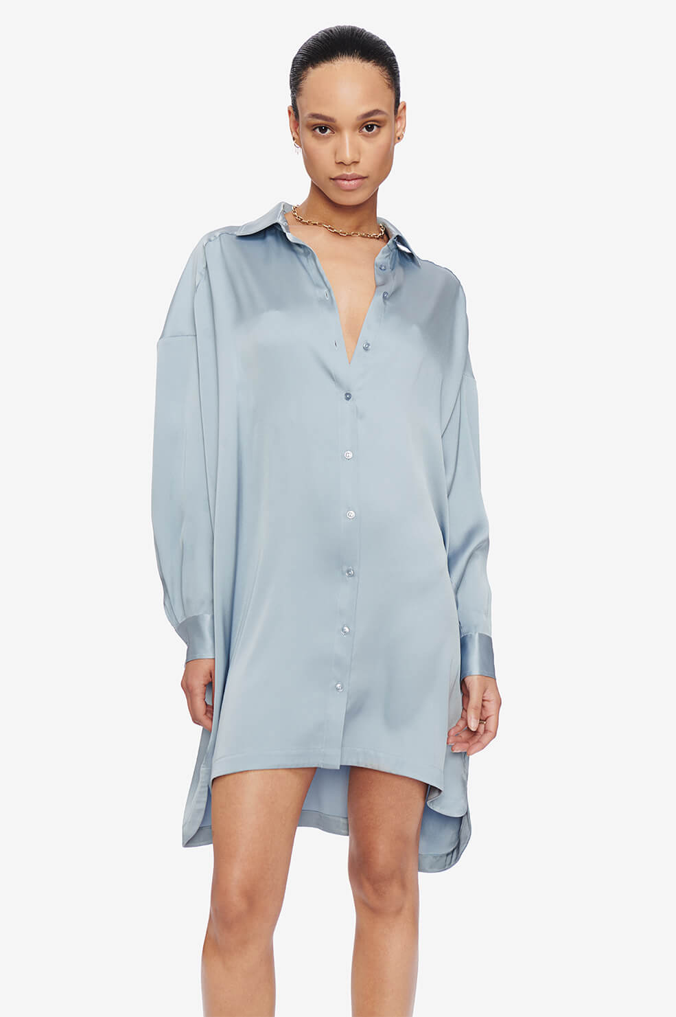 ANINE BING Aubrey Dress - Barely Blue