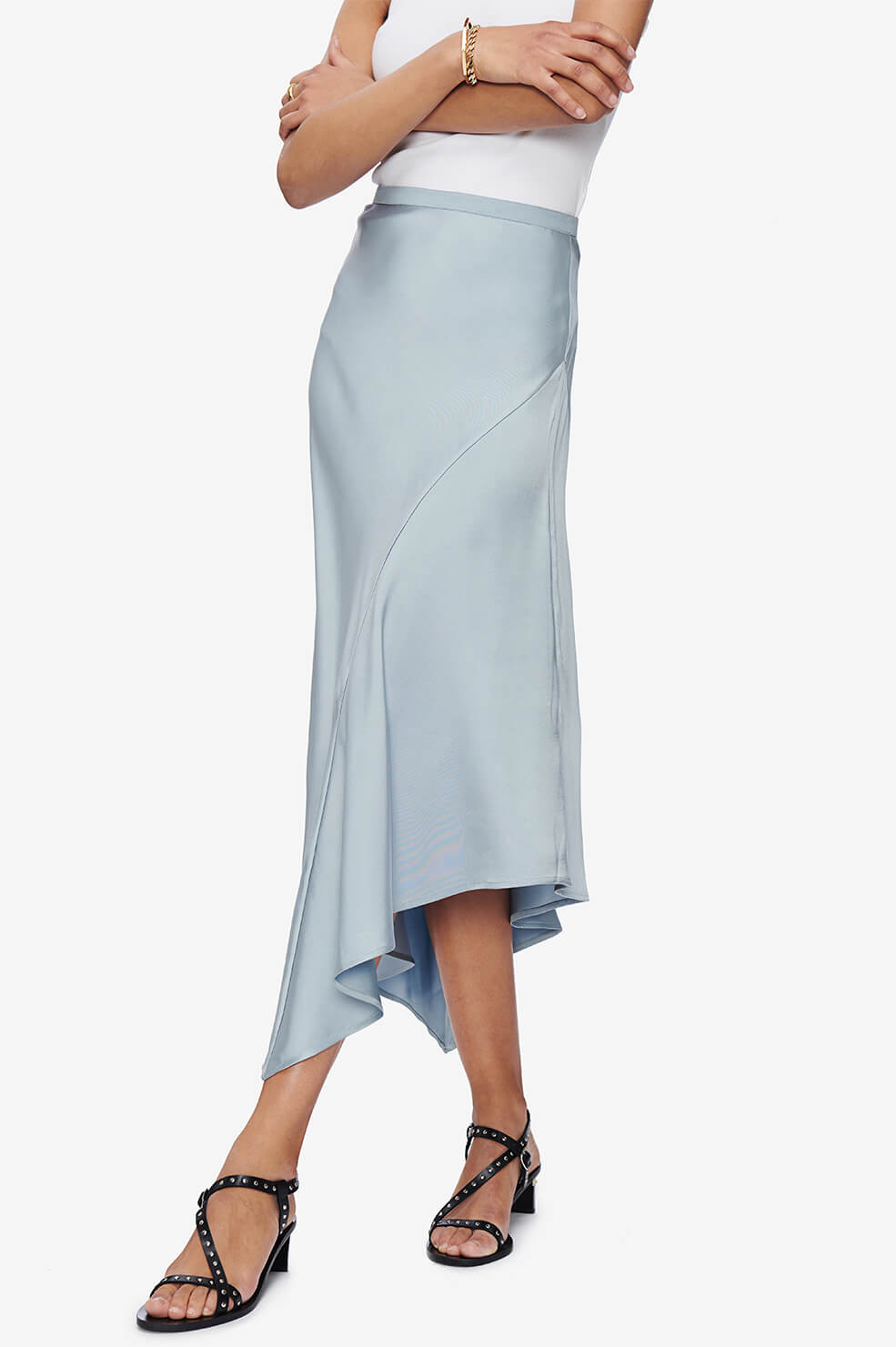 ANINE BING Bailey Skirt - Barely Blue