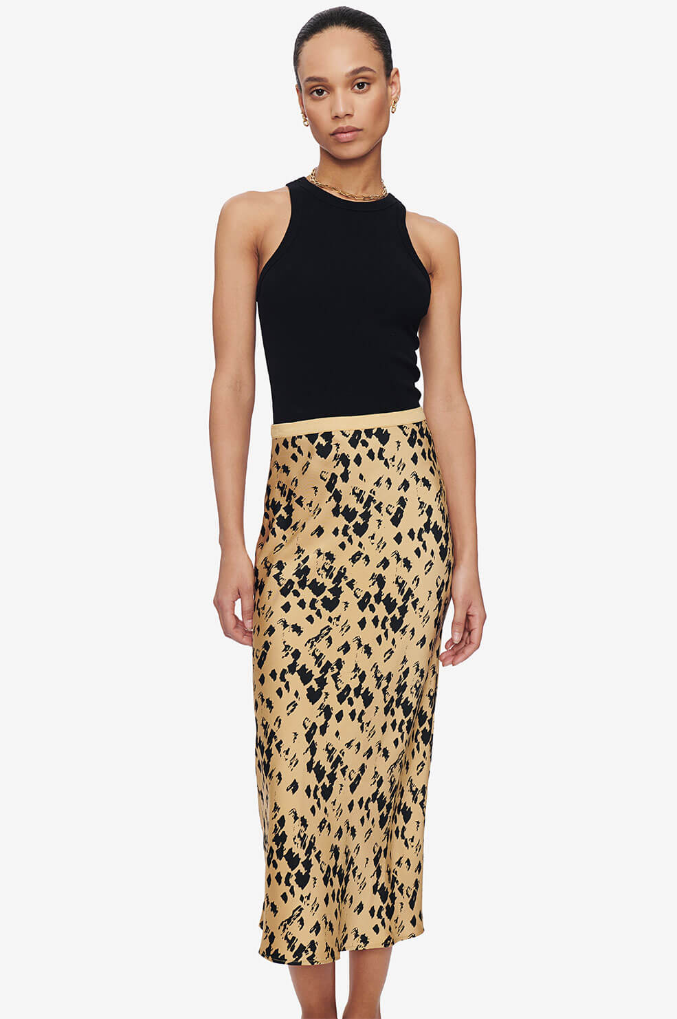 Bar Silk Skirt - Black