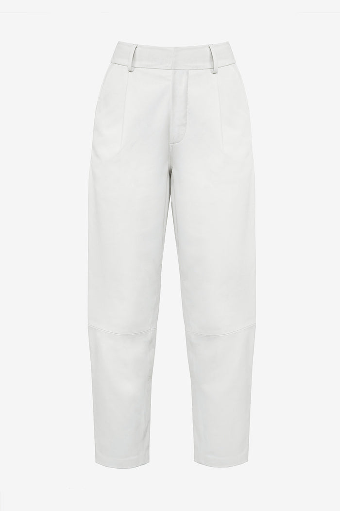 ANINE BING Becky Leather Trouser - White