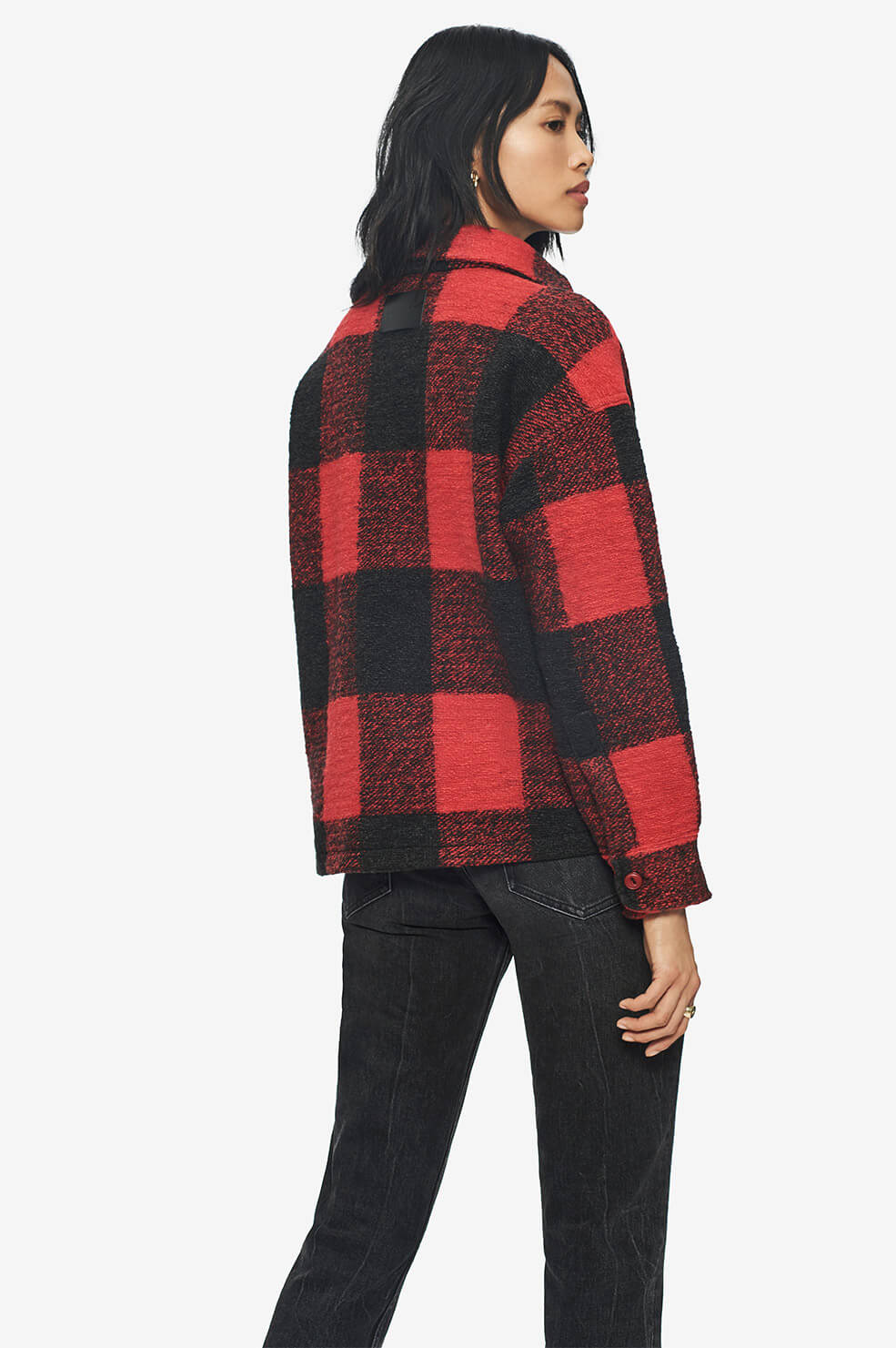 ANINE BING Bobbi Flannel Jacket - Red
