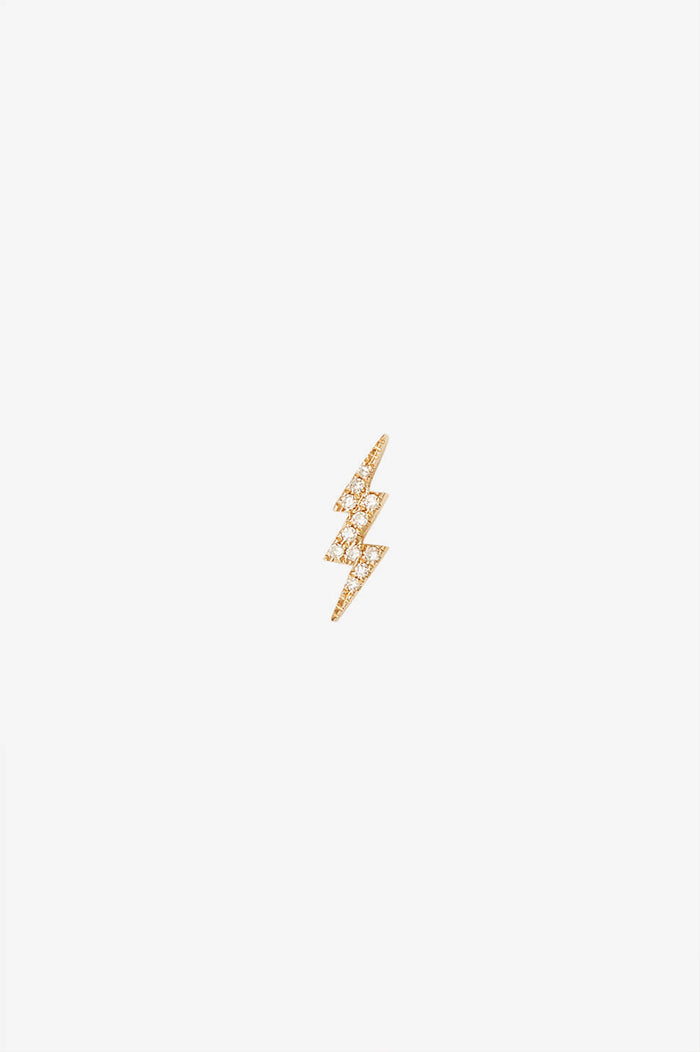ANINE BING DIAMOND BOLT STUD EARRING