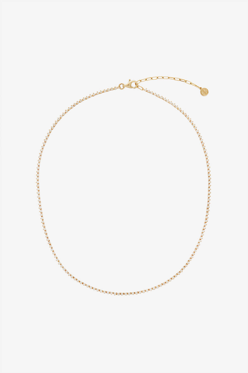 Diamond Tennis Necklace - Gold