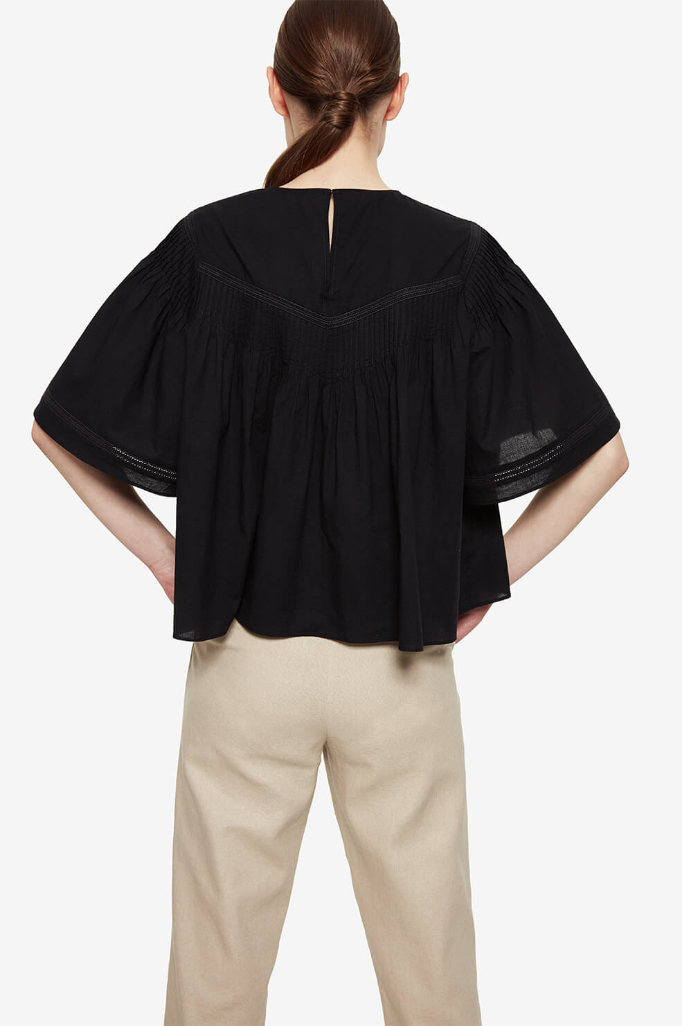 ANINE BING Eloise Top  - Black