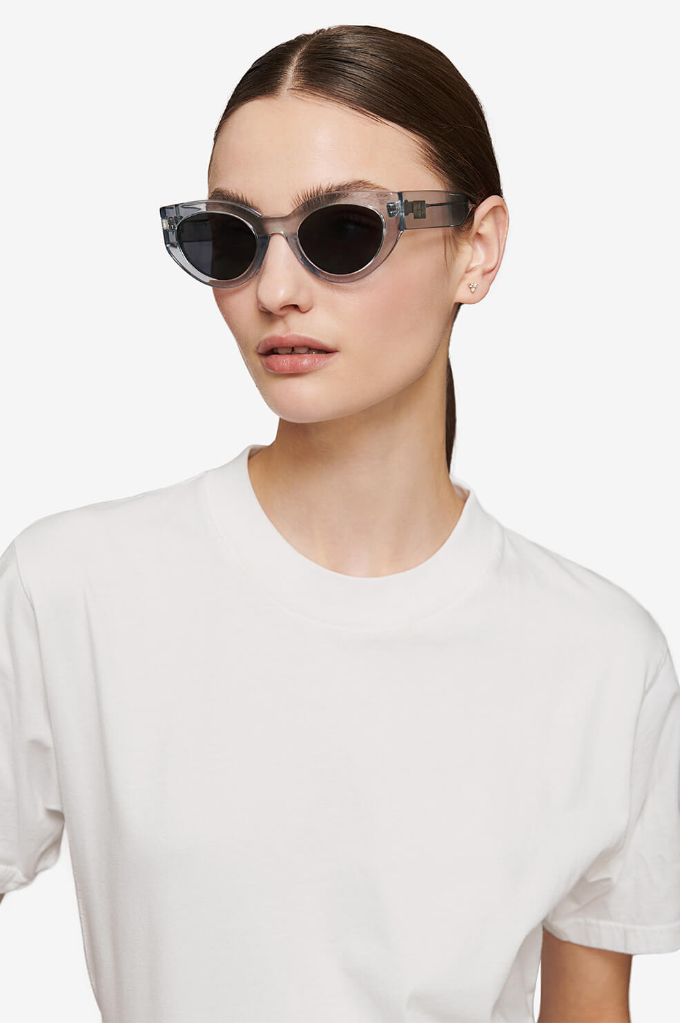 ANINE BING Emma Sunglasses - Clear Blue