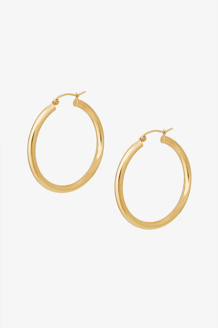 ANINE BING MEDIUM HOOP EARRINGS