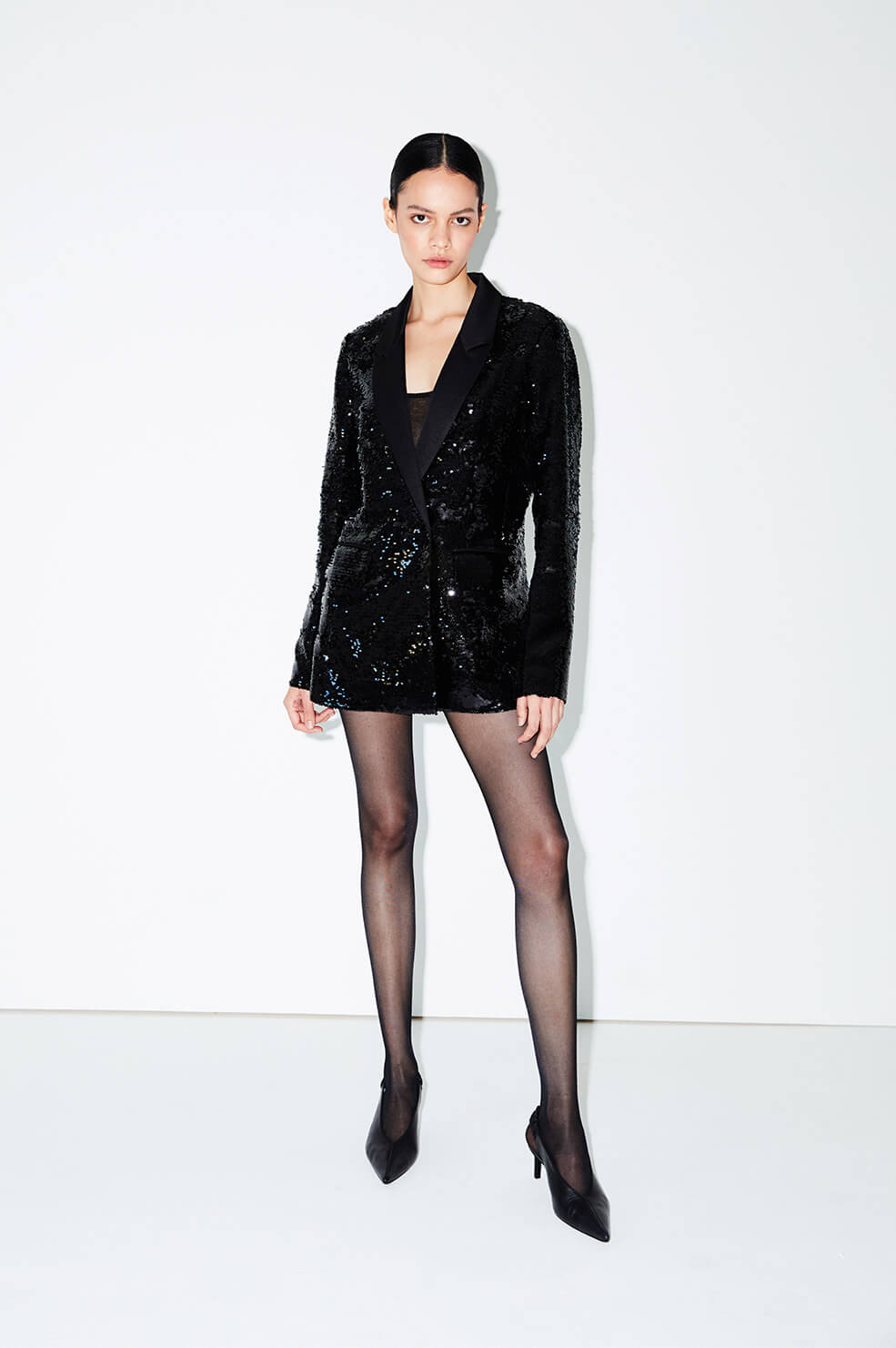 ANINE BING Ace Blazer - Black Sequin
