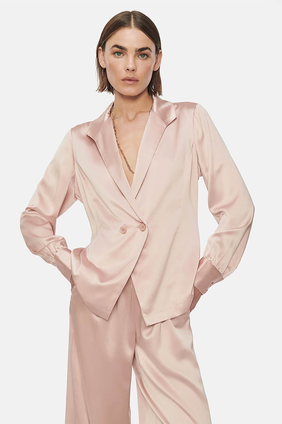 ANINE BING Isabella Top - Dusty Pink