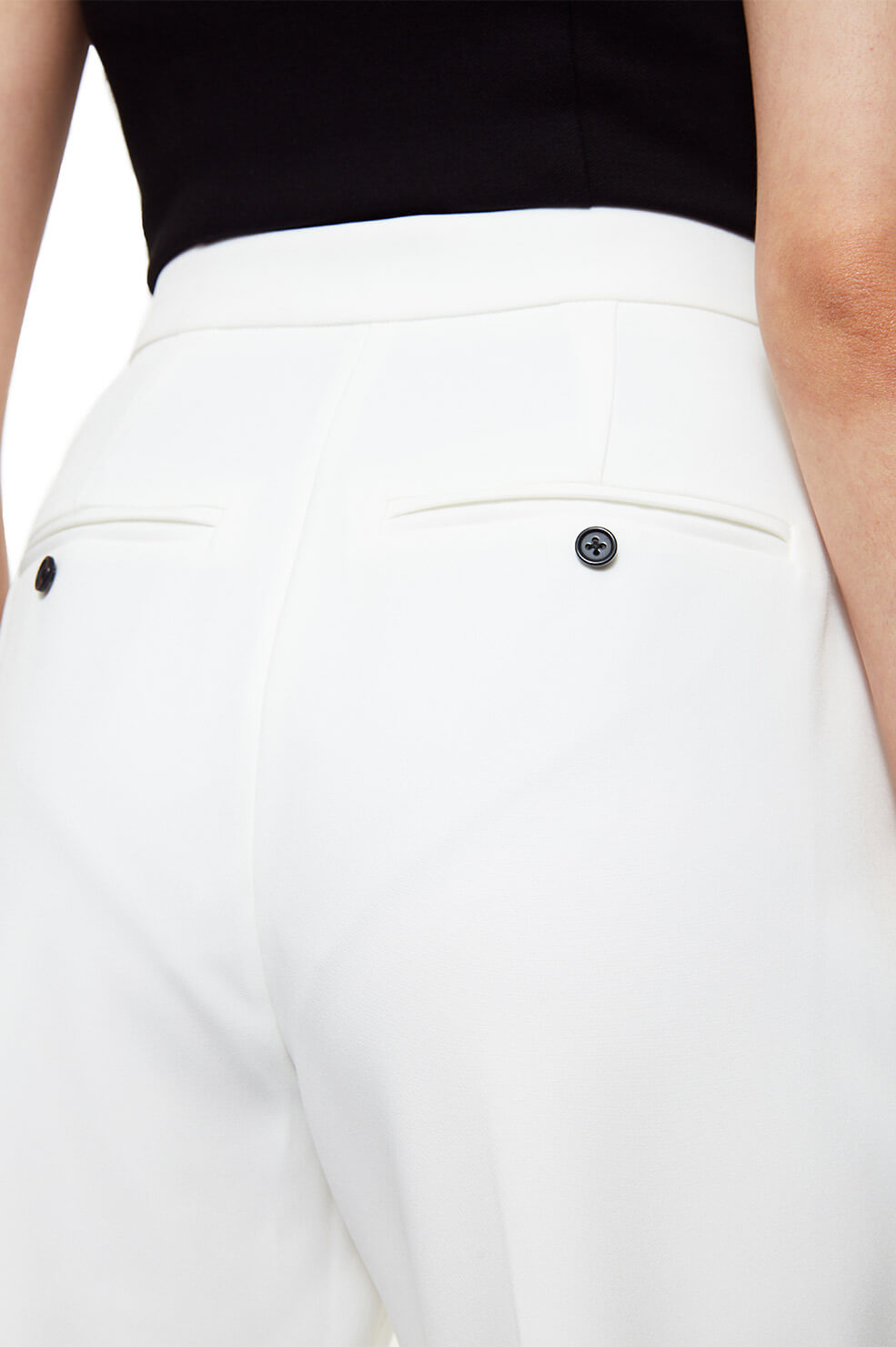 ANINE BING James Trouser AB x HC - White