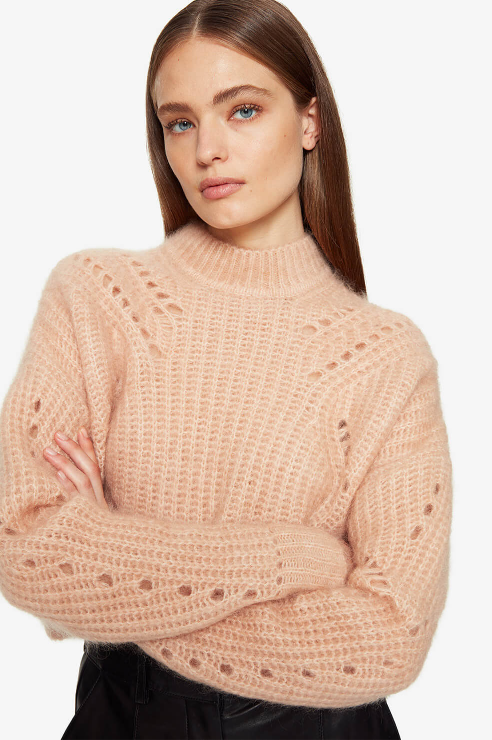 ANINE BING Jordan Sweater - Peach