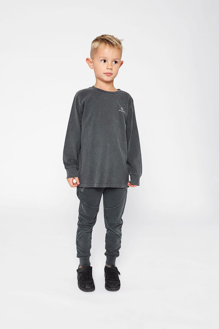 ANINE BING KIDS Mini Willow Tee - Washed Black