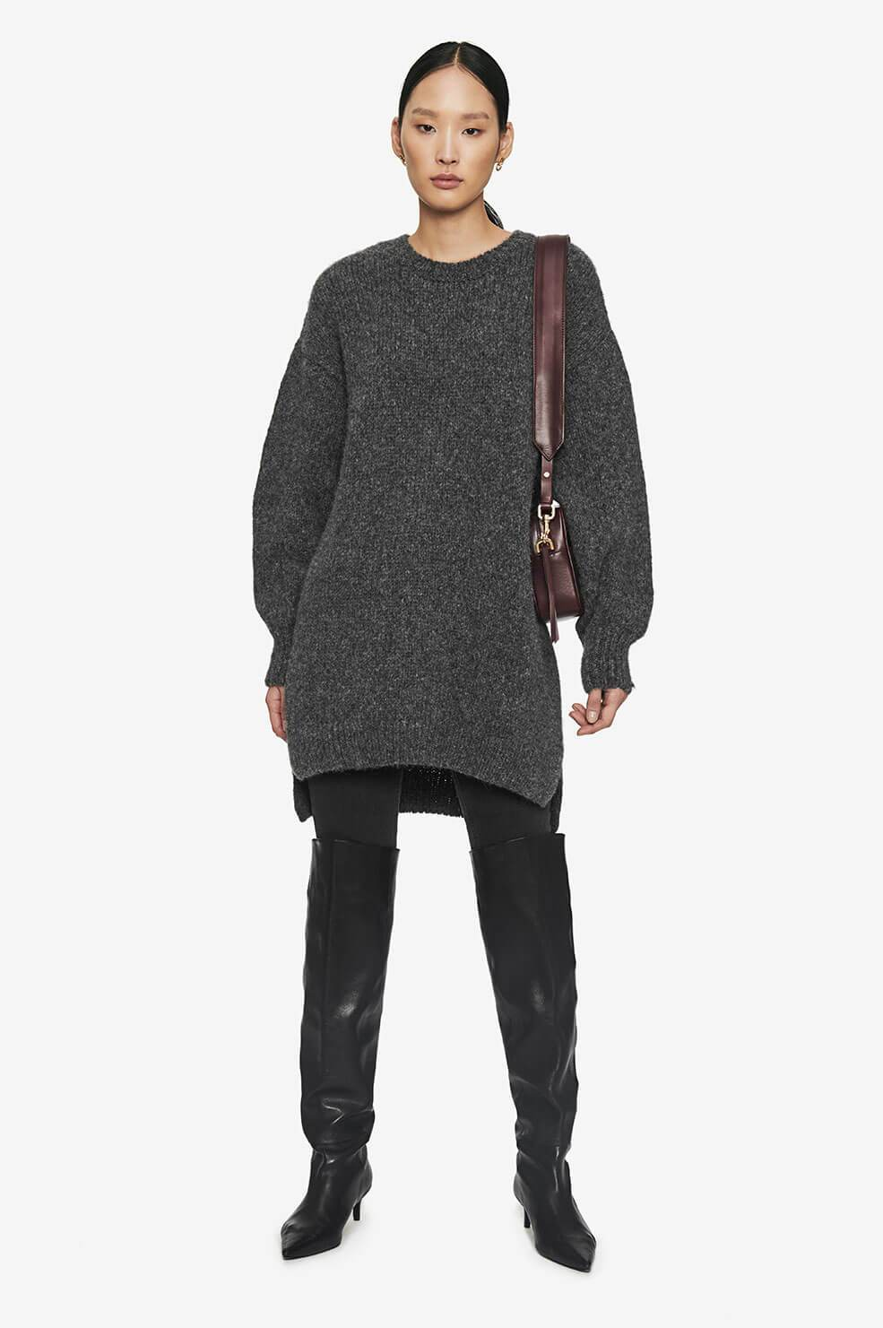 Kyle Sweater Dress - Grey