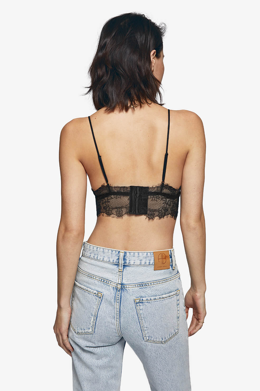 ANINE BING Lace Bralette in black