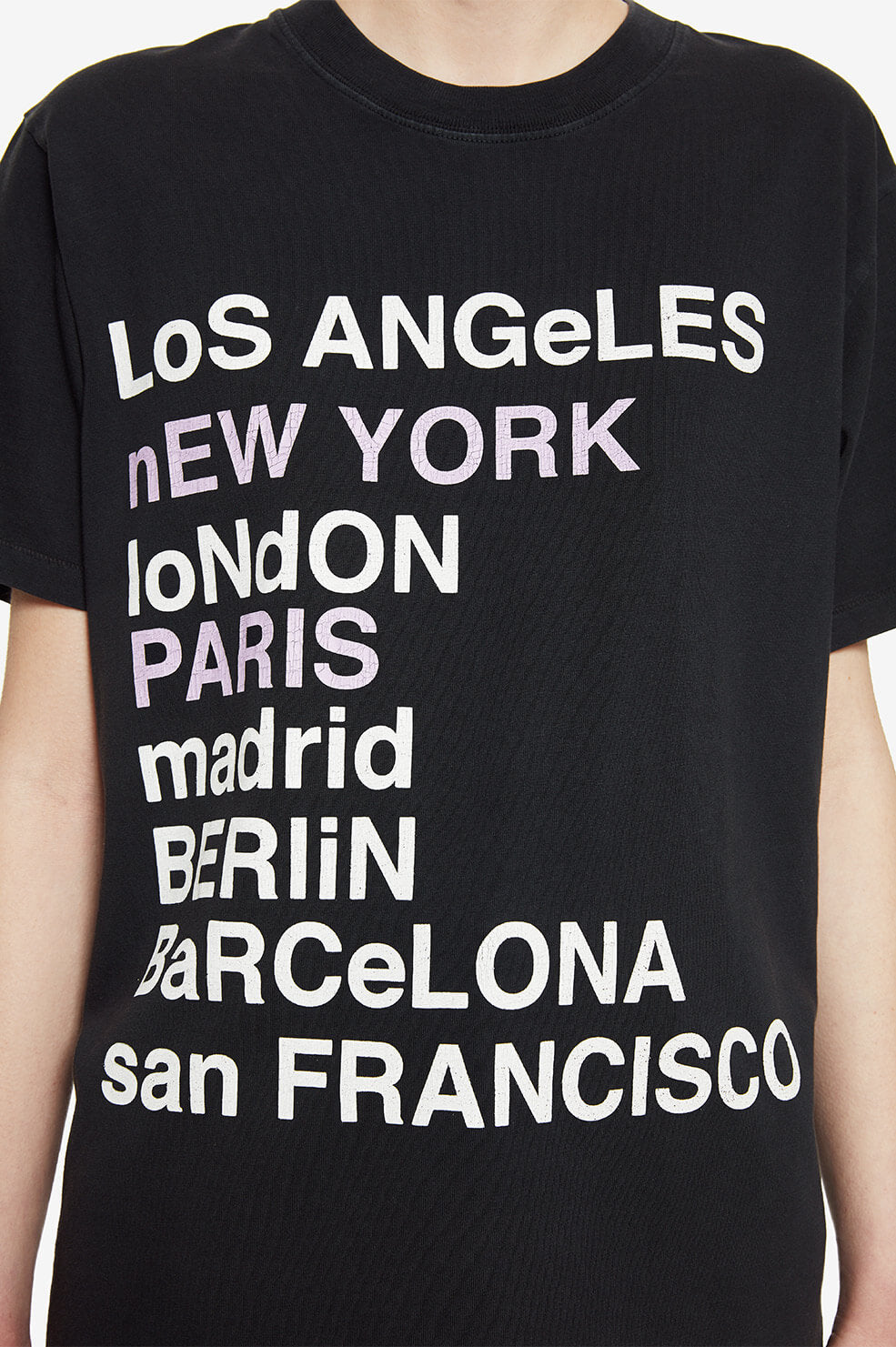 ANINE BING Lili Tee City Love - Washed Black