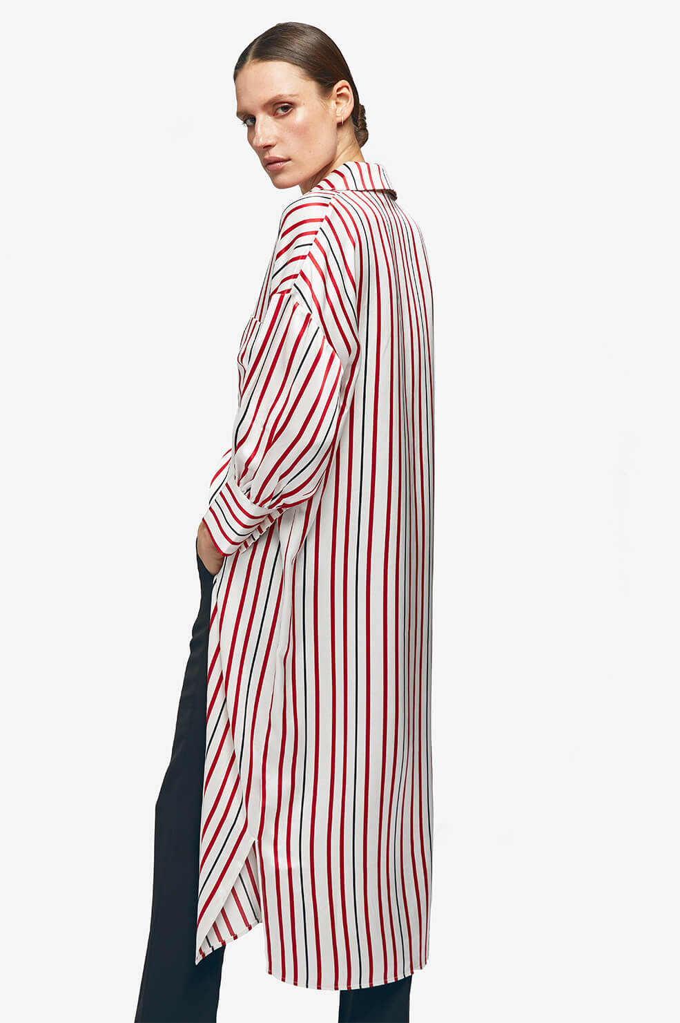 ANINE BING Milly Shirt Dress - Multi Stripe