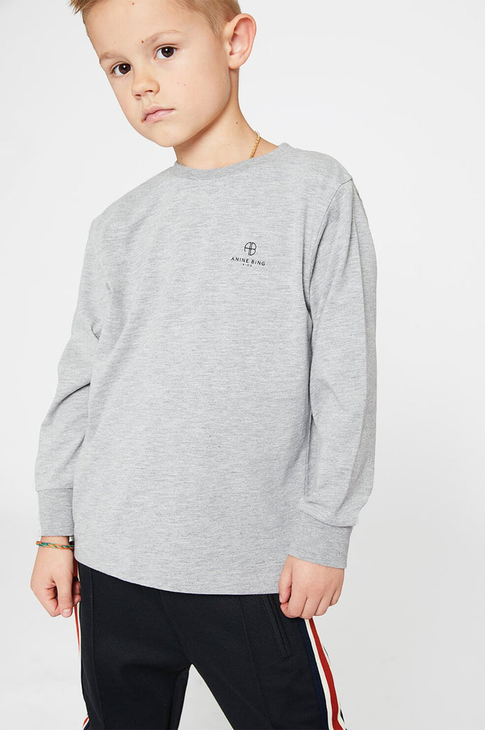 ANINE BING KIDS Mini Willow Tee - Heather Grey