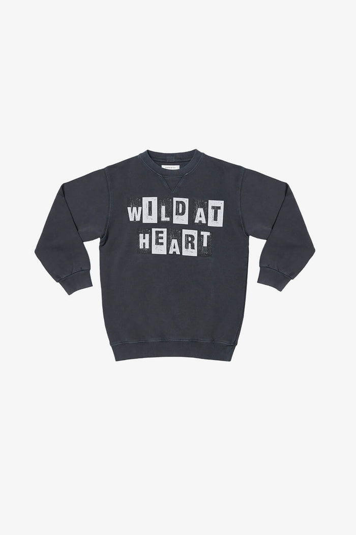 ANINE BING KIDS Mini Ramona Sweatshirt Wild At Heart - Washed Black