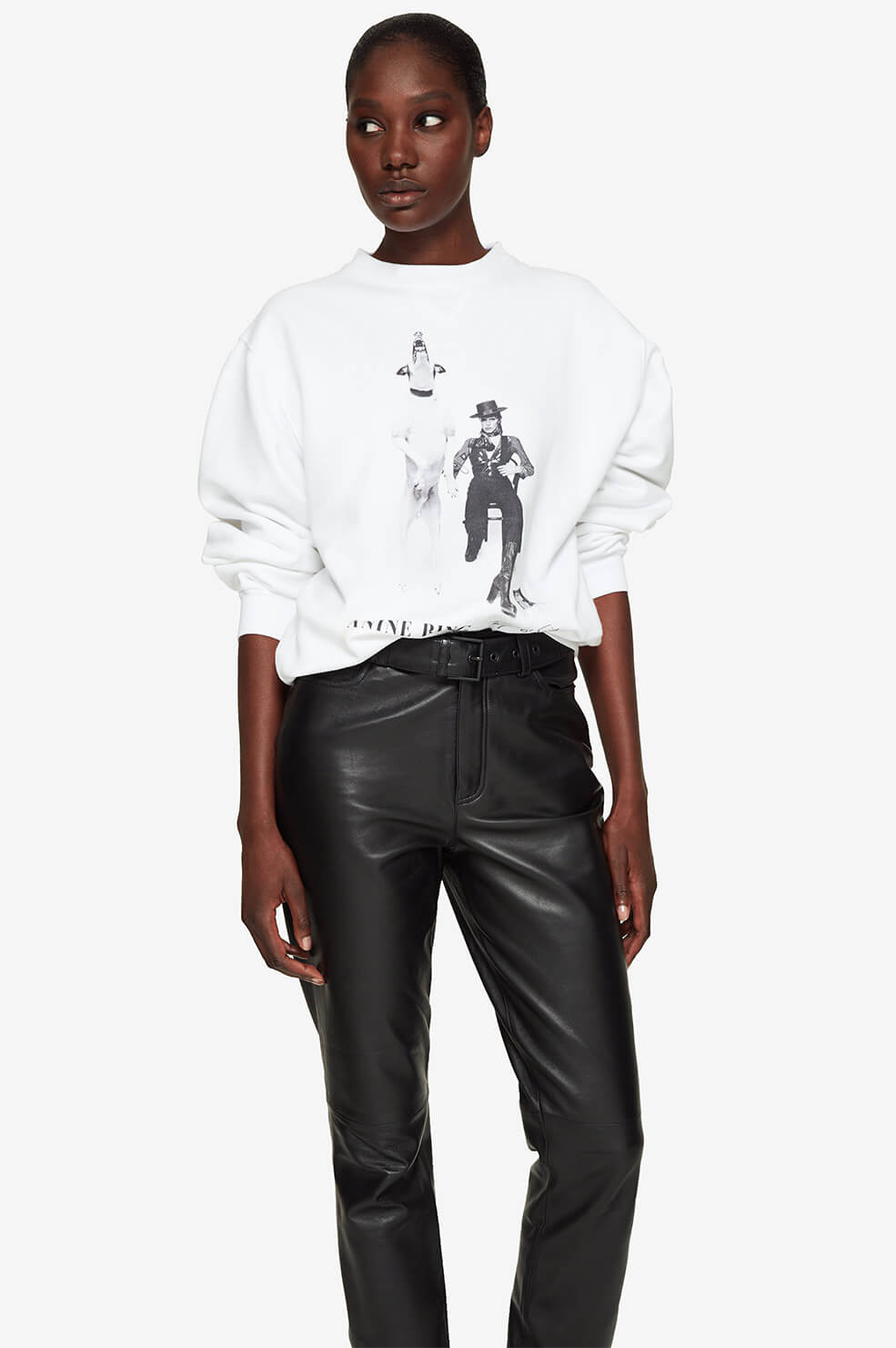 ANINE BING Ramona Sweatshirt AB X TO David Bowie - White