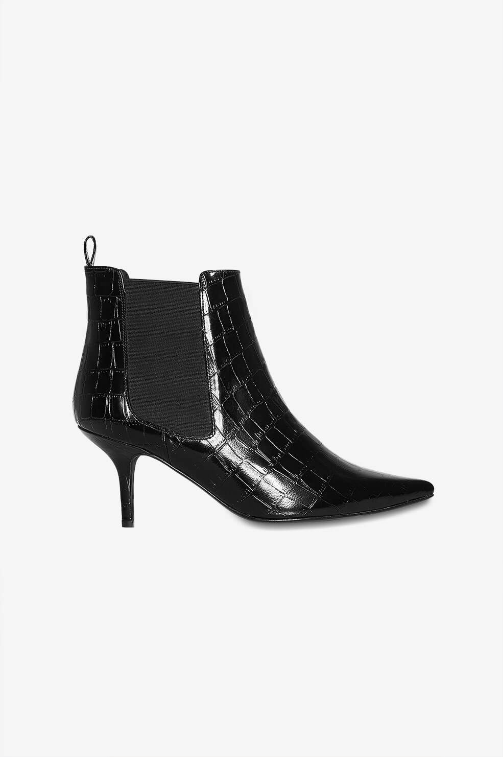 Stevie Boots - Black Croco