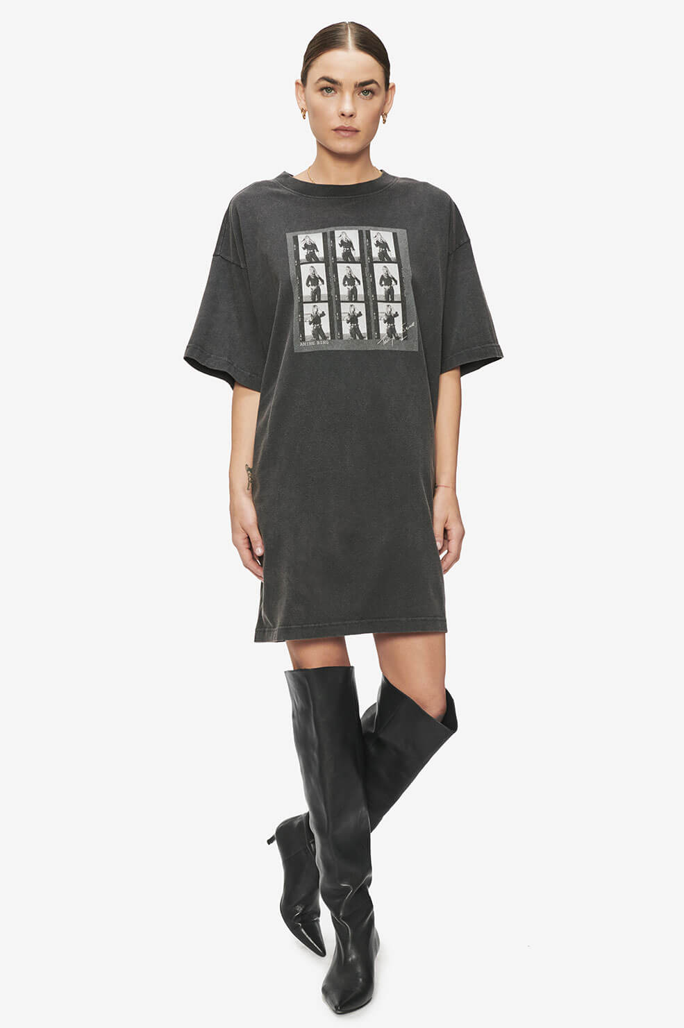 Harley Tee Dress AB x TO - Washed Black