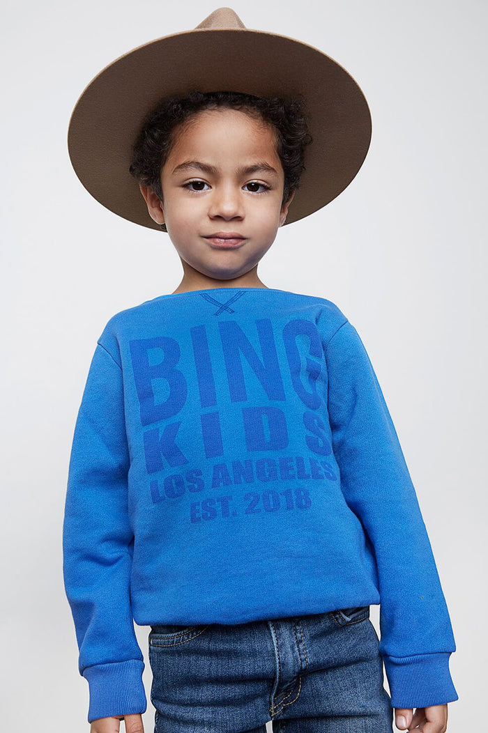 ANINE BING KIDS Bing Icon Sweatshirt - Blue