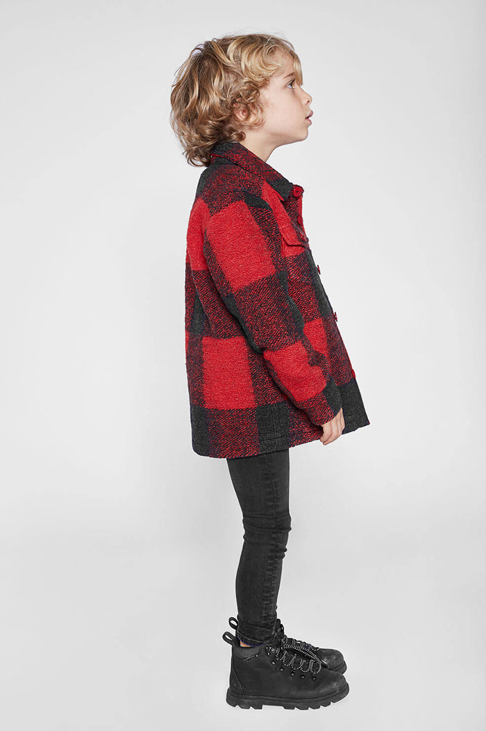 ANINE BING Mini Bobbi Flannel Jacket - Red