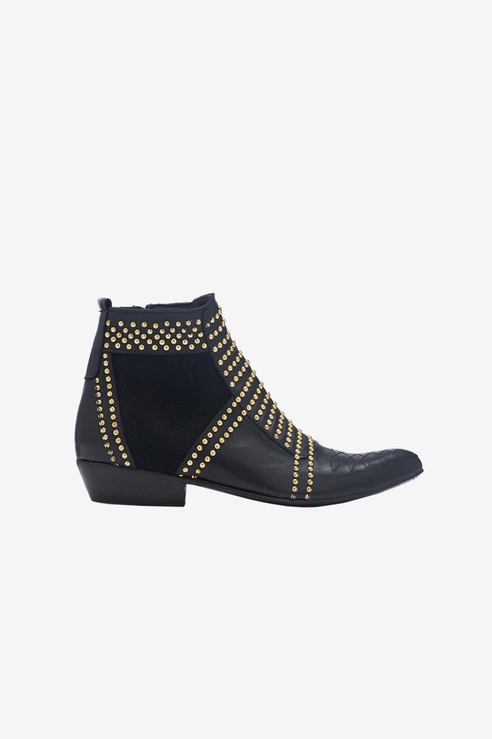 6147a6e7cc609 ANINE BING Charlie Boots with Gold Studs