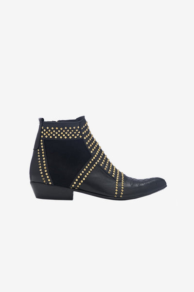 official photos 76004 14fc0 Charlie Boots - Gold Studs