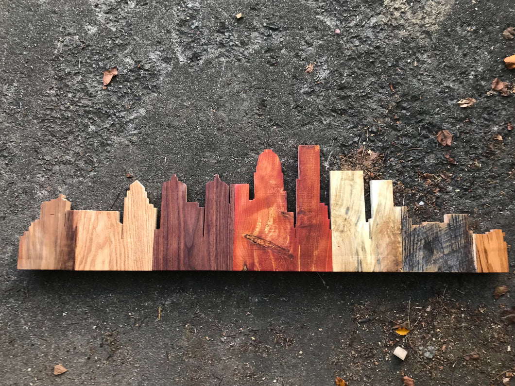 4' mixed wood Louisville skyline