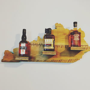 Kentucky bourbon bottle display