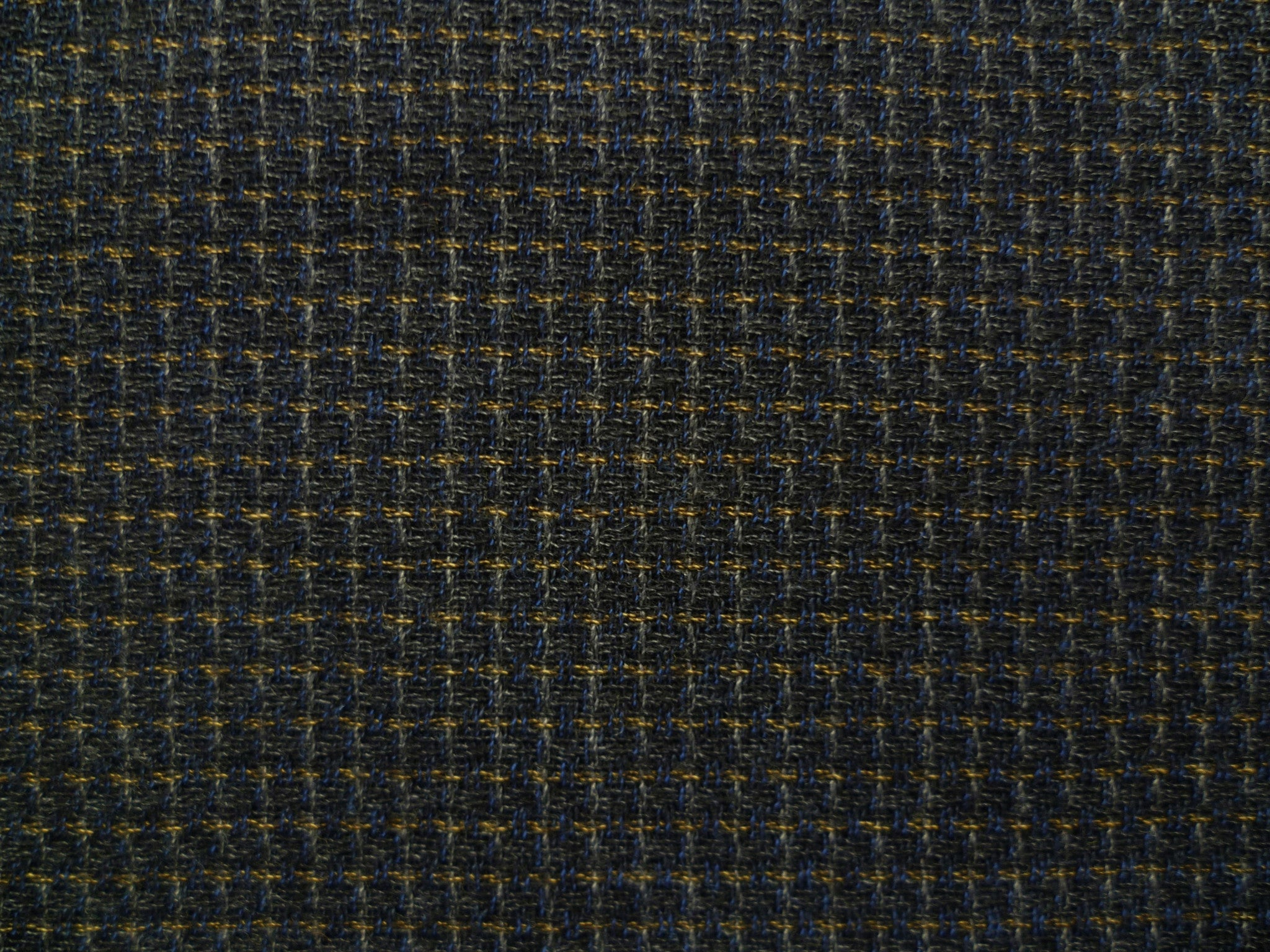 Navy, Beige and Mustard Neatcheck High Twisted Wool