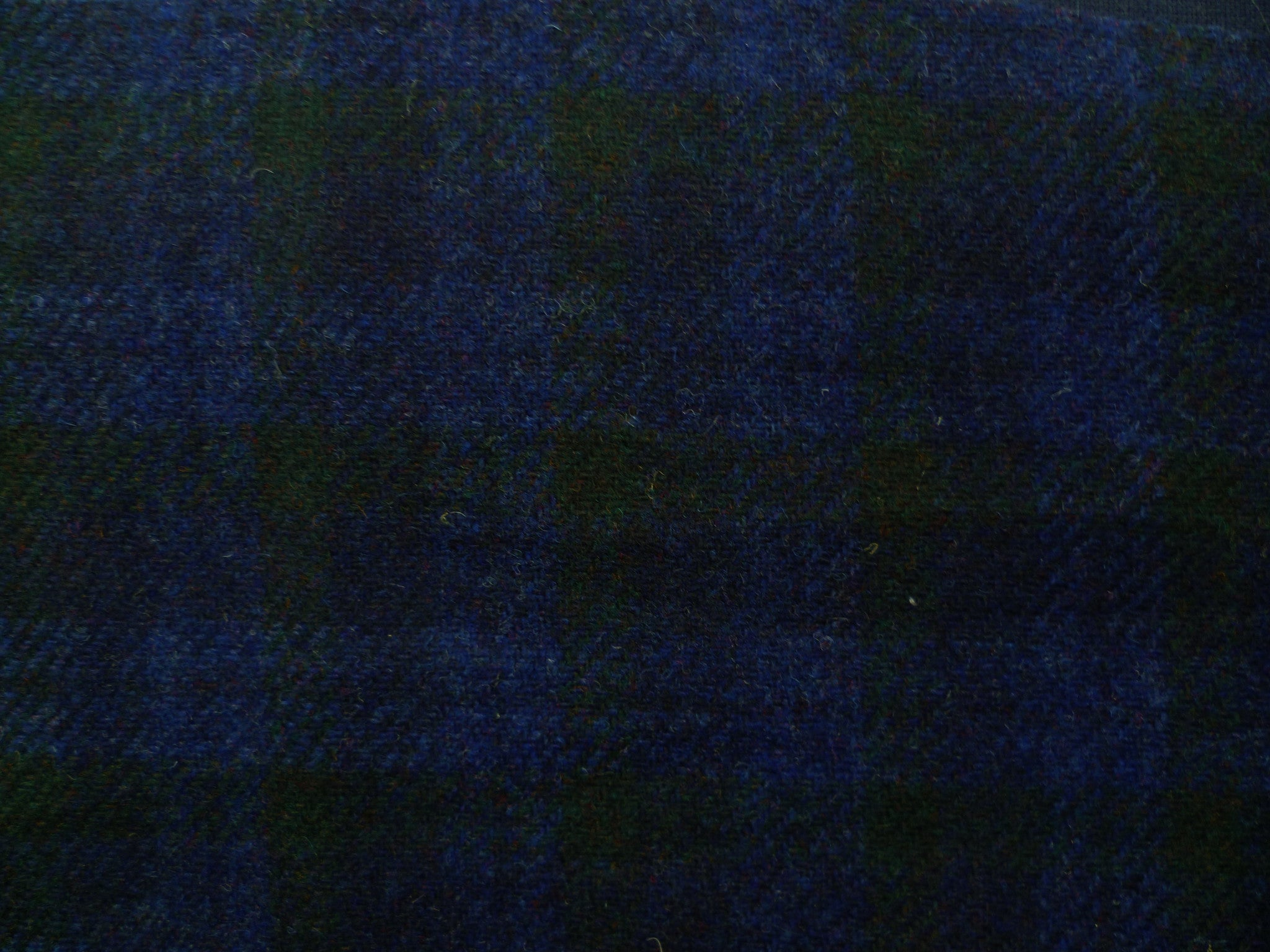 Royal Blue, Forest Green and Indigo Checked Wool
