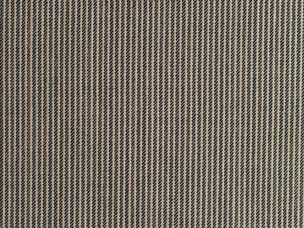 Taupe and Black Hairline Striped Wool Worsted