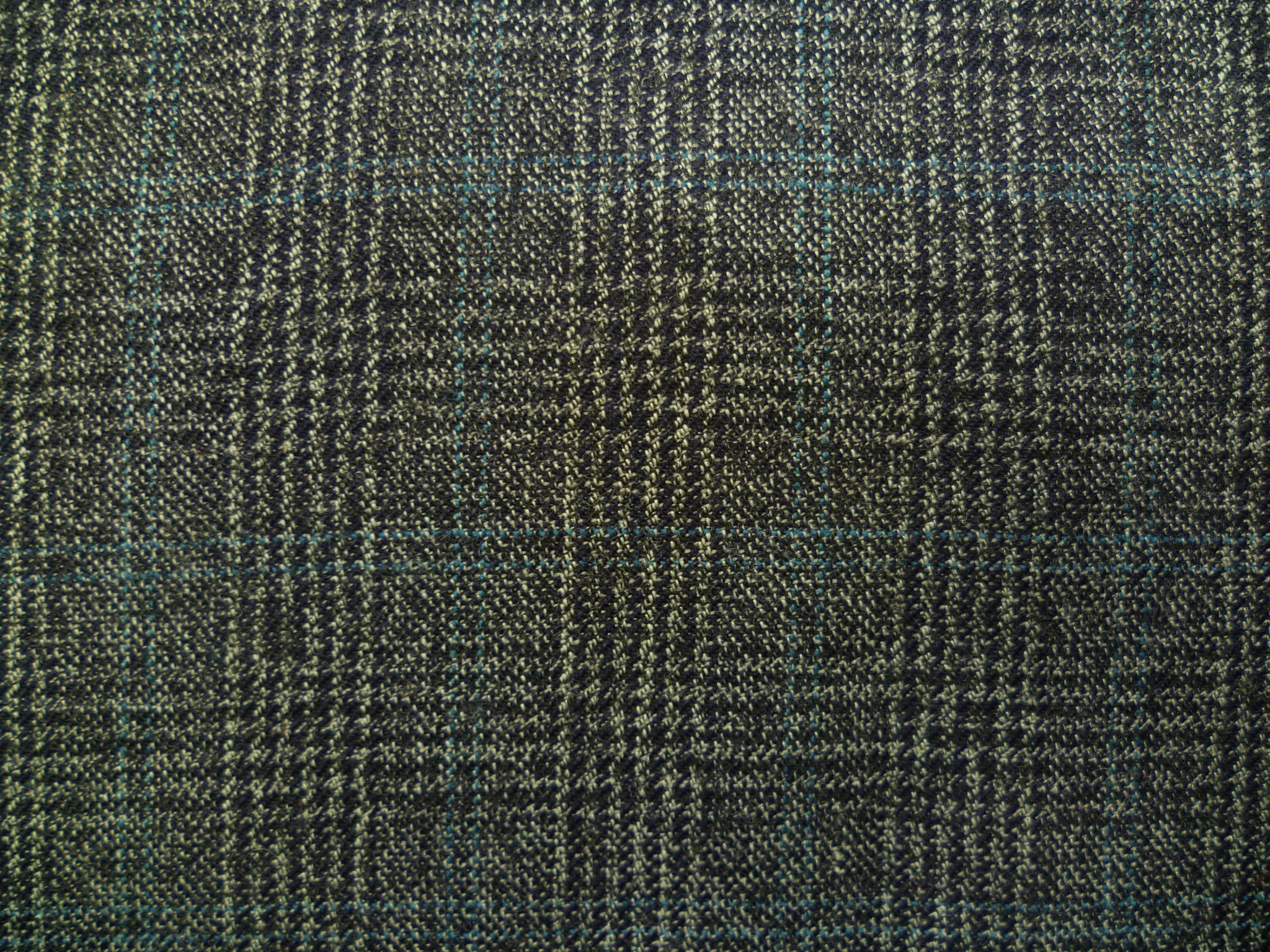 Mixed Grey and Dark Teal Overchecked Wool  Special Price