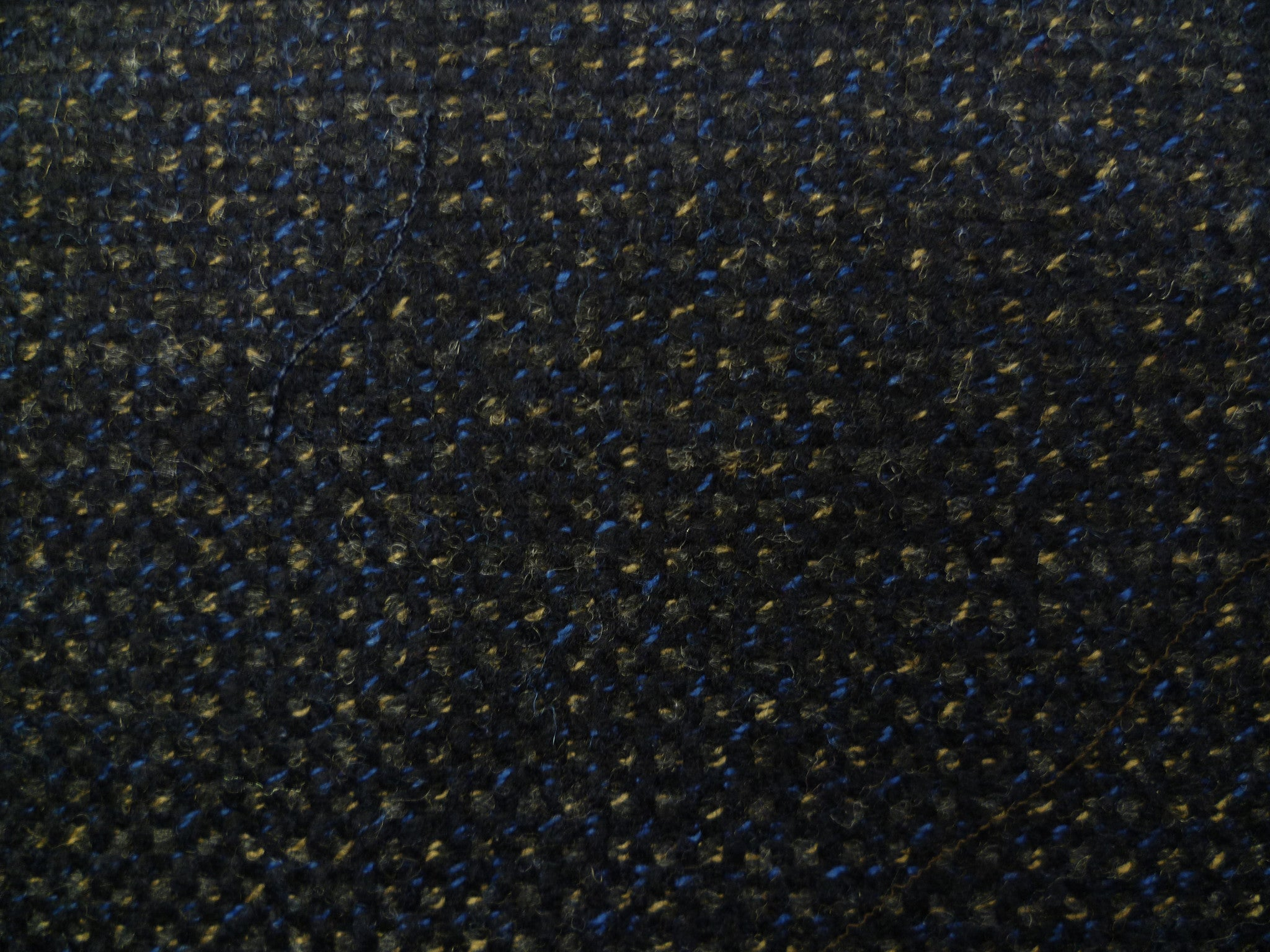 Navy, Metallic Blue and Beige Pindot Wool