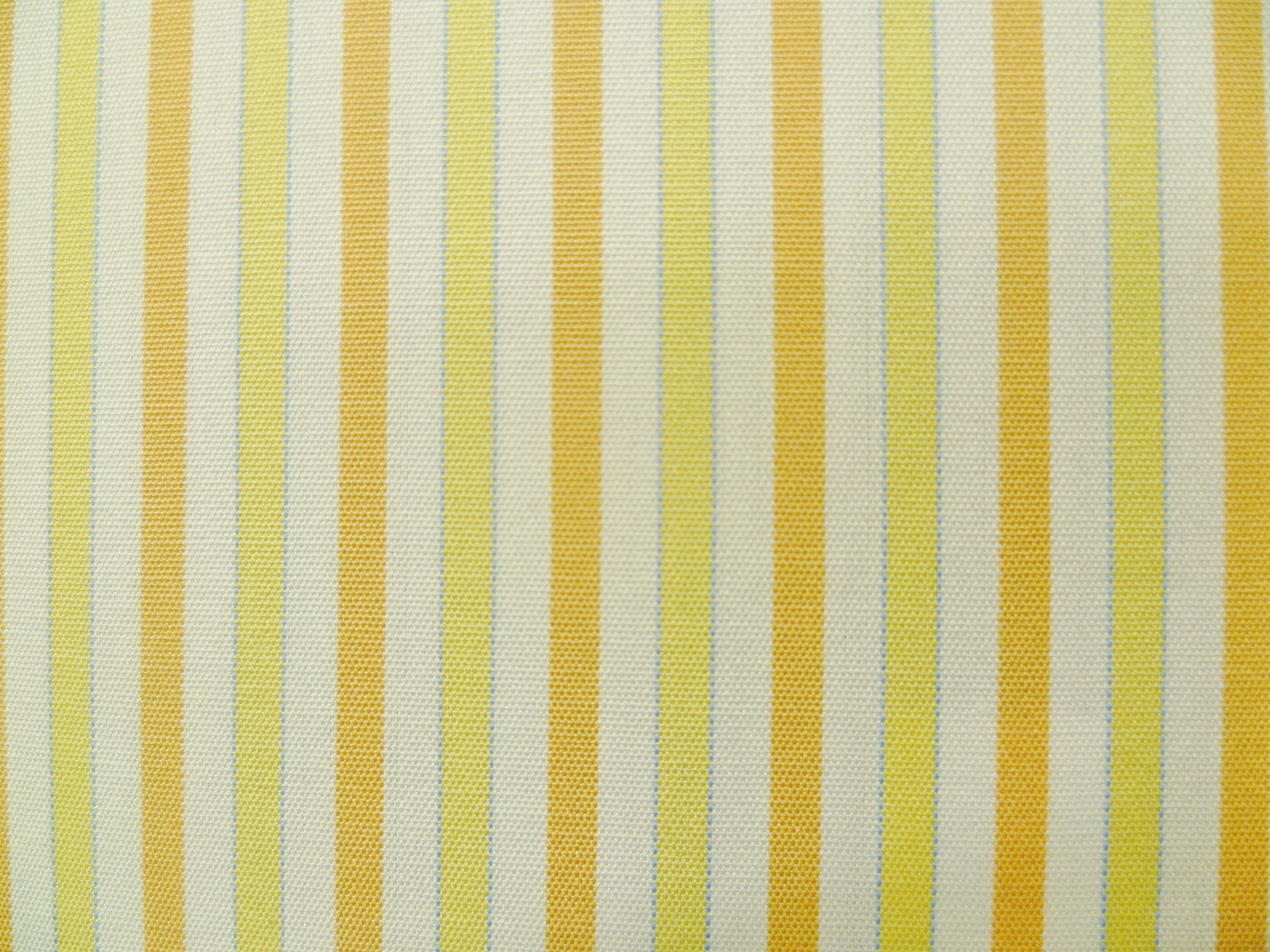 Tangy Orange and Yellow-Blue Striped Cotton