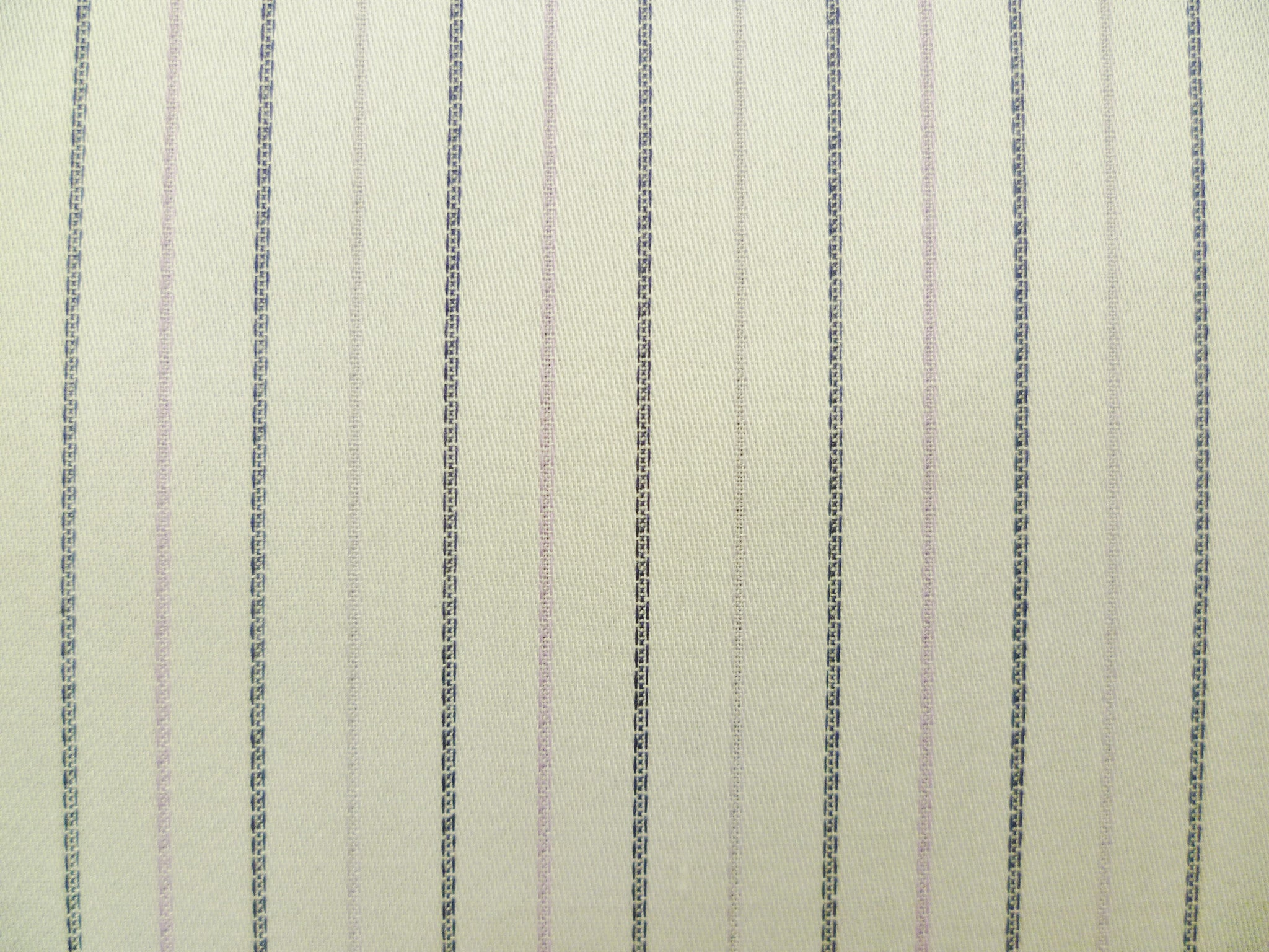 Lavender, Black, Lilac and White Striped Cotton