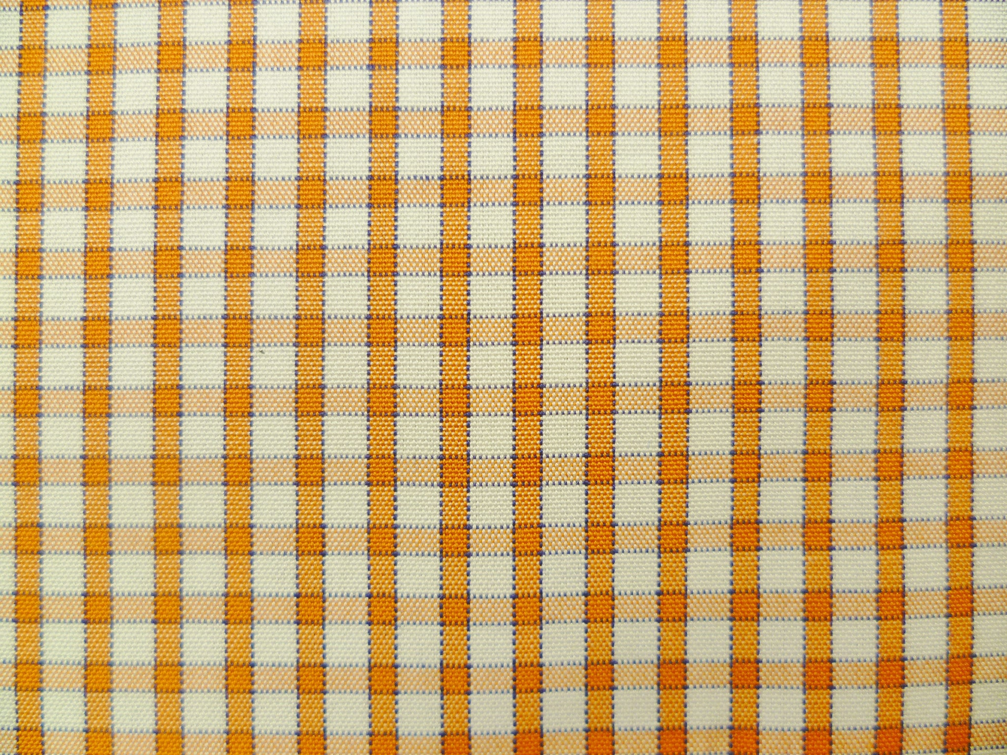 Tangerine-Violet and White Gingham Checked Cotton
