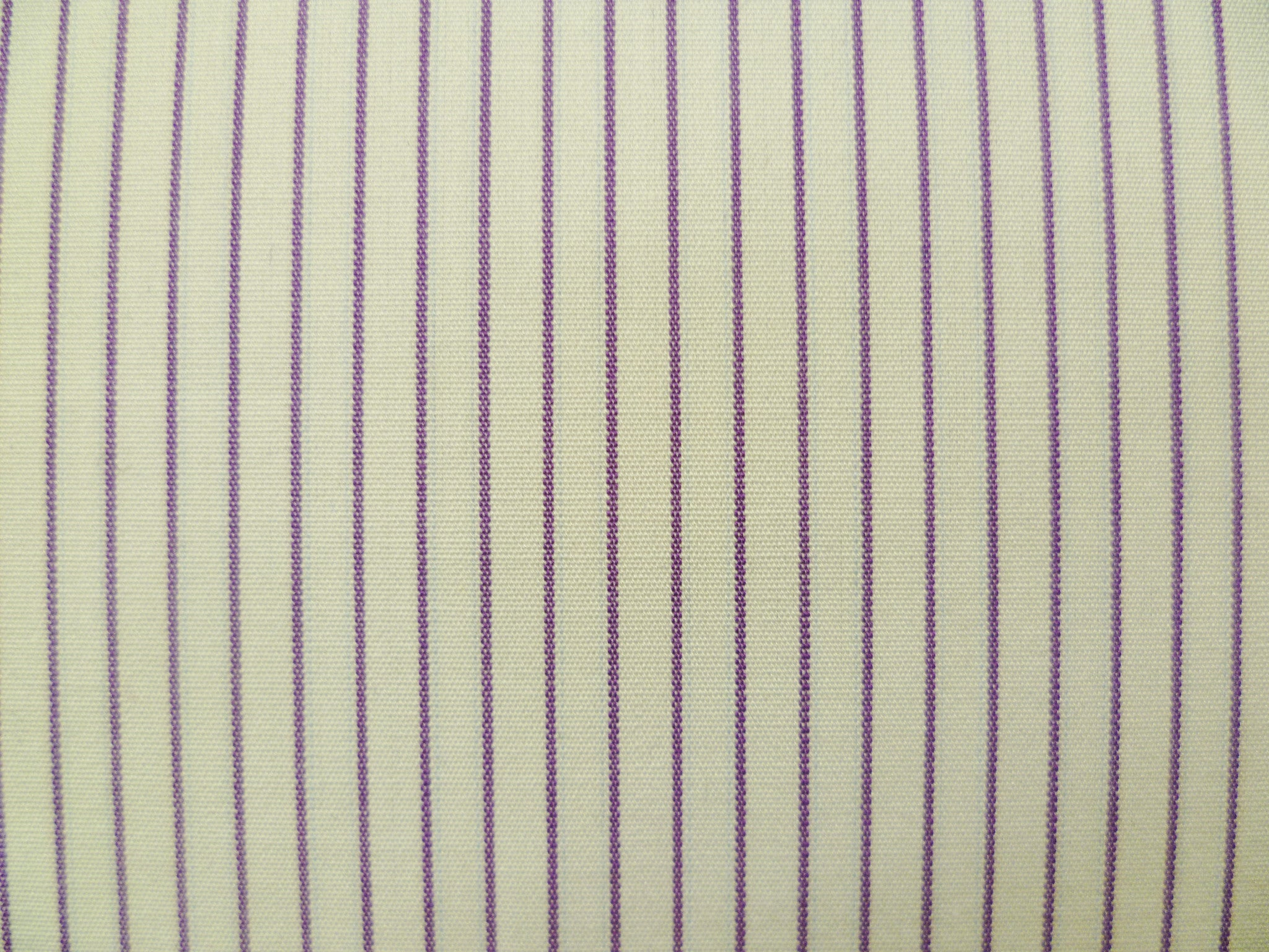 Plum and White Striped Cotton