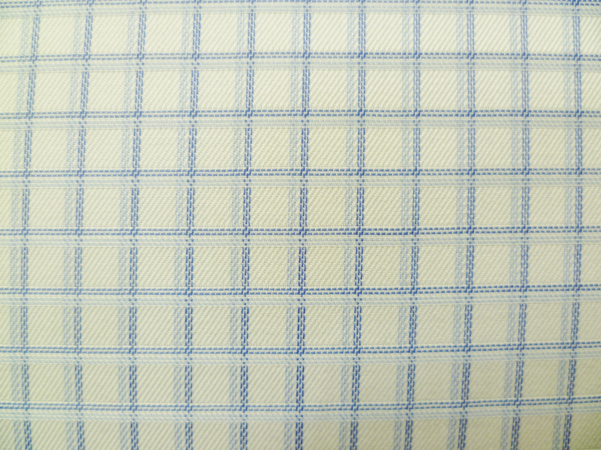 Navy, Baby Blue and White Checked Cotton
