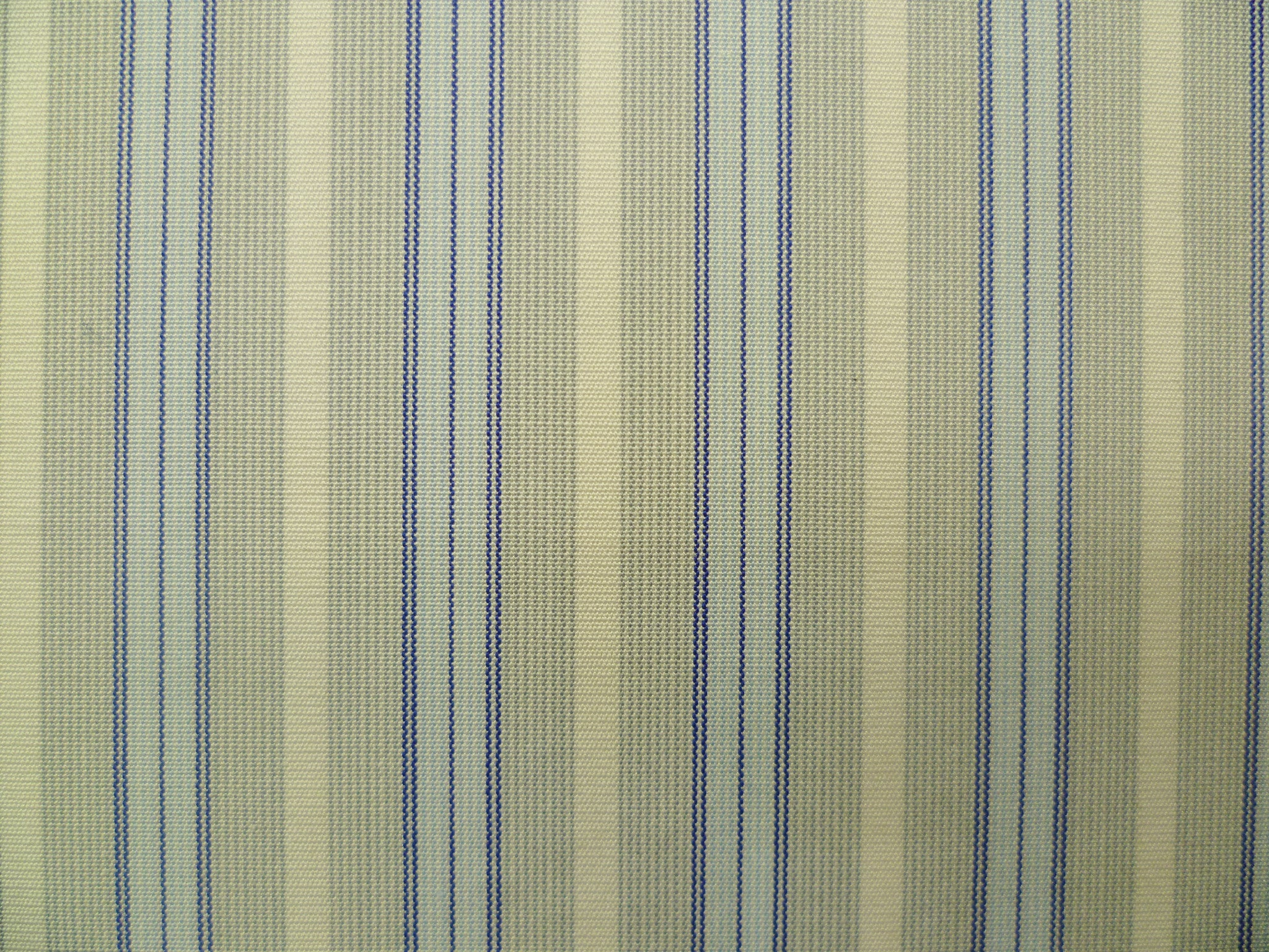 Stone Grey and White Hairline with Baby Blue and Indigo Multi-Striped Cotton